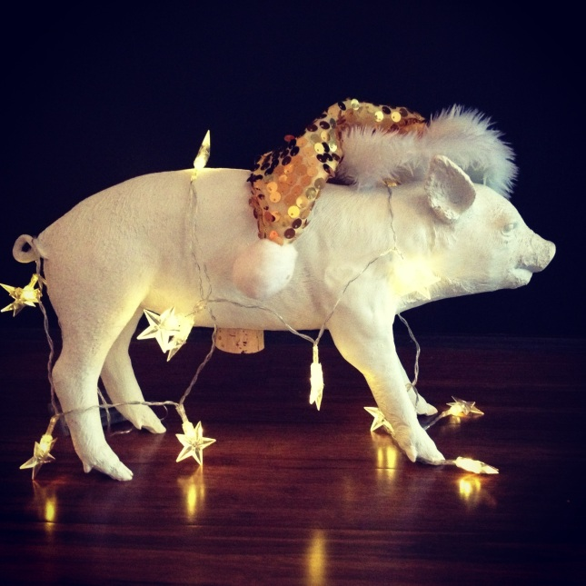 The Pig sends you tidings of comfort and joy.
